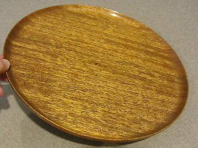 """Bob Stocksdale Wood Plate Signed """"Walnut from New Guinea"""" Original Turned 11"""""""