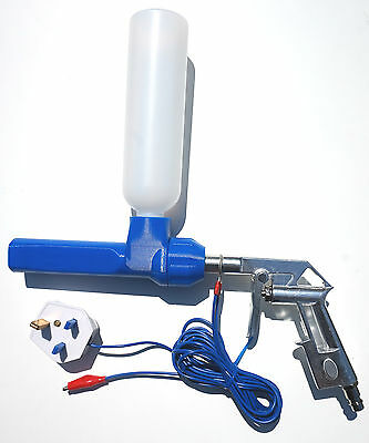 NordicPulver powder coating gun system with UK earth ground plug