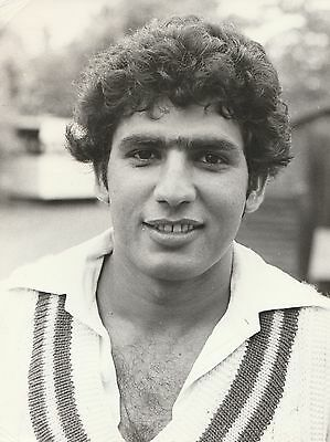 HASAN JAMIL (Pakistan) black and white cricket press photograph... 1970s
