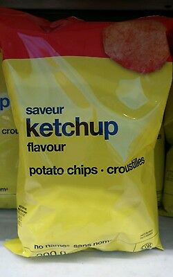 Lot of 3 bags No Name Ketchup Family Size 200g Potato Chips