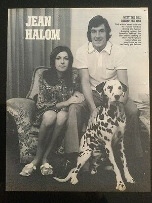 *1971* A4 Football picture poster VIC HALOM + FAMILY, Luton Town