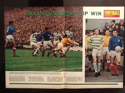 1969 A3 Football picture/poster Scottish Cup Final Celtic 4 Rangers 0