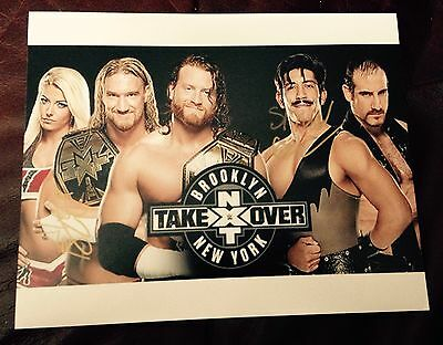 wwe alexa bliss & simon gotch signed autographed 8x10 photo proof NXT takeover