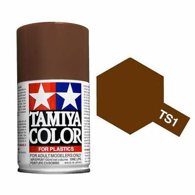 TAMIYA COLORE SPRAY PER PLASTICA RED BROWN MARRONE ROSSO 100ml     ART TS1