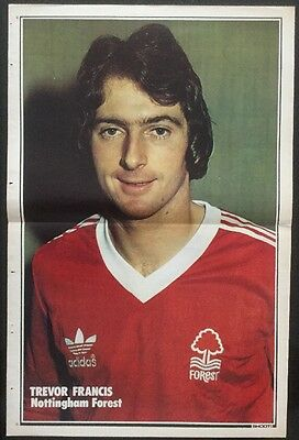 1979 A3 Football picture poster TREVOR FRANCIS Notts Forest + A4 article
