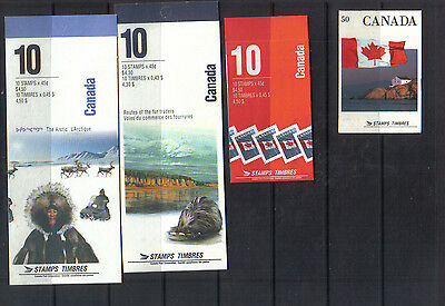 Canada Four modern stamp booklets unused