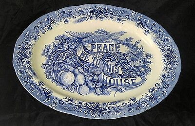 Currier and Ives Heritage Mint Peace Be to This House Platter
