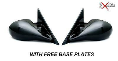 Bmw E36 3 Series 2 Door Coupe Black M3 Manual Pair Door Wing Mirrors Base Plates