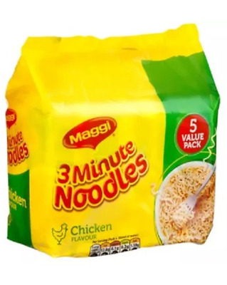 3 x pack of 5 MAGGI 3 Minutes Instant Soup Chicken Curry Bbq Beef Noodles value