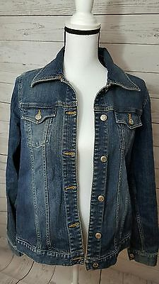 Women's Old Navy Maternity Jacket Stretch Jean Medium Wash Denim Size Small