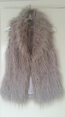 Forever New Faux Fur Rare New Winter Jacket vest warm grey