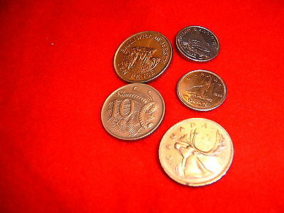Coins X 5 (Varied Lot)