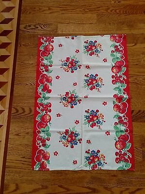 Vintage Early 50's 60's Table Runner Delightful Colors For Your Kitchen