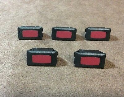 Sigma Red Indicator Light Panel Mount 14V Snap Fit Lot of 5