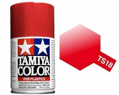TAMIYA COLORE SPRAY PER PLASTICA METALLIC RED ROSSO METALLIZZATO 100ml ART TS18