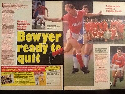 2xA4 Football picture article LEE BOWYER, Notts Forest (c1987)