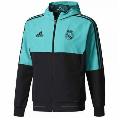 adidas Real Madrid Training Presentation Jacket 2017/18 – Black - Mens