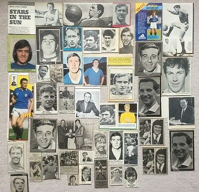 45 Football magazine picture cuttings RANGERS Lot 2 1950s + Ideal for Scrapbook