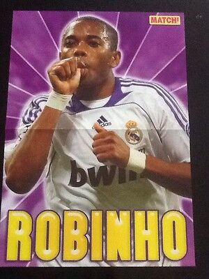 A3 Football picture/poster ROBINHO Real Madrid + AFRICAN CUP WALL CHART (2008)