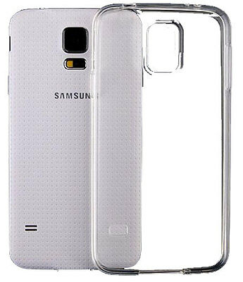 For Samsung Galaxy S5 Case Gel (Crystal Clear TPU Silicone Jelly)