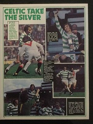 A4 Football 1975 Cup Final, Celtic 3 Airdrie 1 action inc TEAM Celebrate picture