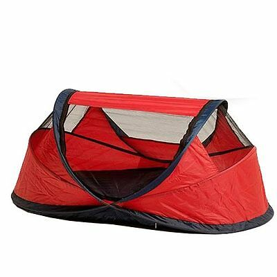Nscessity UV Travel Centre Baby Travel Cot - Small - Red