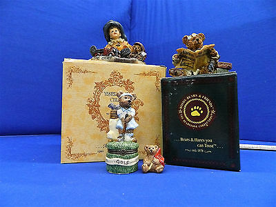 Lot of 3 pcs from Boyds Bears, figurines and trinket box, UFDC 208-2017