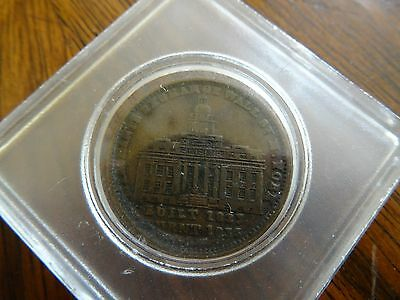 Antique Wall Street Hard Times Token Millions for Defence Not One Cent Tribute