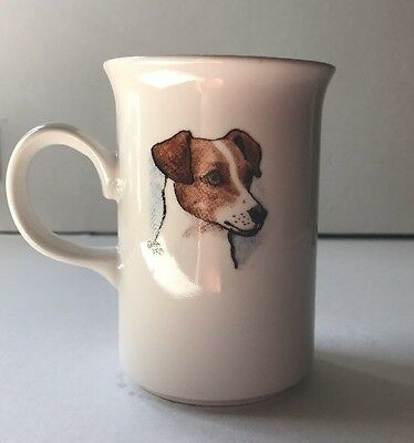 Jack Russell Mug~Louise Wood~1986~Grays Terrier Products~Aldridge England