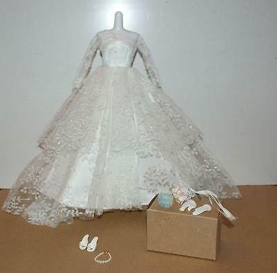 Barbie Collector Reproduction Fashion WEDDING DAY Gown  #972 2009 Complete MINT