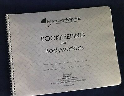Bookkeeping For Bodyworkers Log Book Portable Massage Table Facial SPA