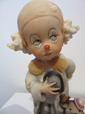 G. Armani  Figurine Statue  Little Clown With Dog  1984  Florence Italy