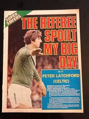 A4 Football picture/poster PETER LATCHFORD, Celtic