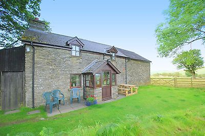 Detached self catering stone country holiday cottage in lovely Lakeland of Wales