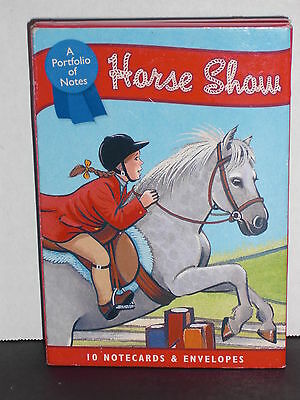 Horse Show Peaceable Kingdom Press PF82 A Portfolio of Notes Ashley Wolff