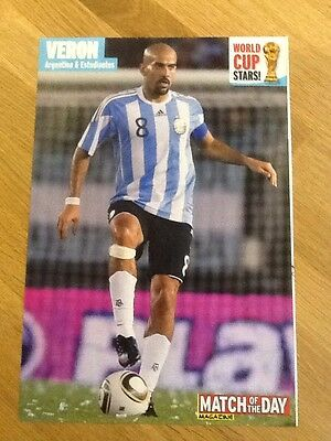 A4 Football Poster/picture  VERON, ARGENTINA (buy 3 get 1 Free)