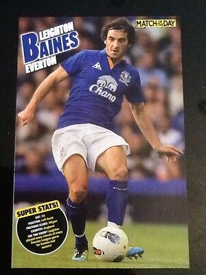 A4 Football SUPER STATS picture/poster LEIGHTON BAINES, Everton