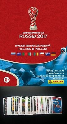 Panini Confederations Cup 2017 Russia Choose 20 Stickers - For Your Collection