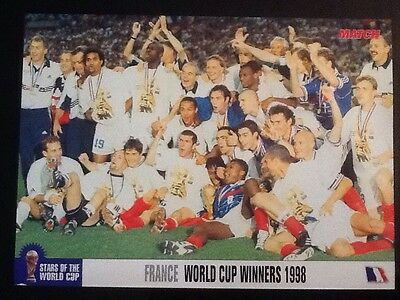 A4 Football TEAM picture/poster FRANCE 1998 WORLD CUP WINNERS Celebrating