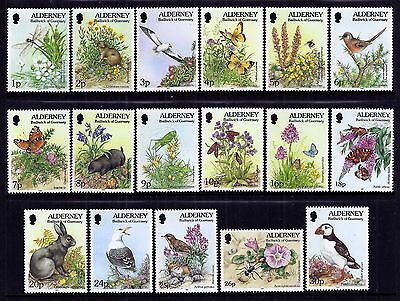 Alderney 1994/8 Flora and Fauna set fine fresh MNH