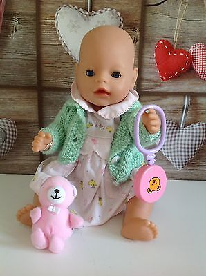 "Zapf Creation Baby Born 16"" Doll Open/Close Eyes & Baby Toy Accessories"