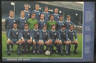 STUNNING A3 Football TEAM picture poster LEICESTER CITY 1968/69 Clarke Fern etc