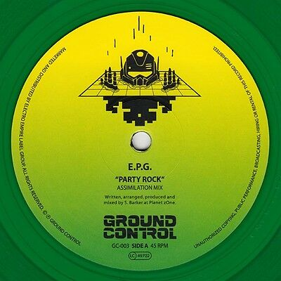 EPG - Party Rock Limited Edition Green 12 Inch Vinyl Ground Control New Electro