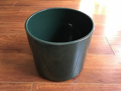 """Gainey Ceramics AC-09 Forest Green CA Art Pottery Planter For 8"""" Grow Pot CLEAN!"""