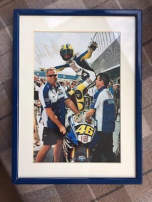 Signed Valentino Rossi Yamaha Motogp Framed Photo. Stunning