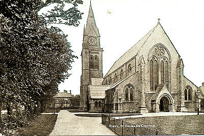 CAERNARVONSHIRE - Two Early Postcards of St Thomas,s Church, RHYL, Wales