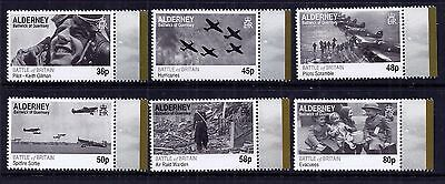 Alderney 2010 Battle of Britain set fine fresh MNH