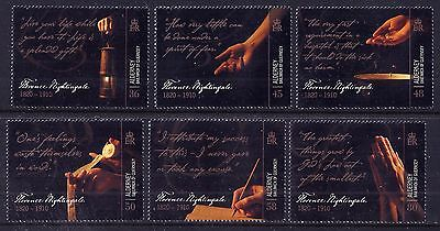 Alderney 2010 Florence Nightingale set fine fresh MNH