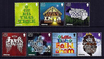 Alderney 2010 Christmas set fine fresh MNH