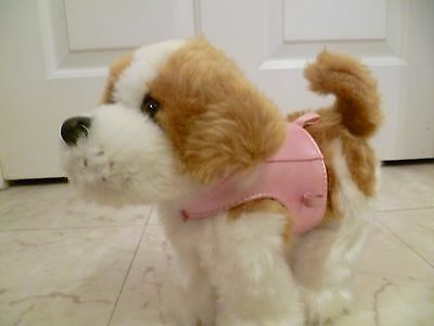 Baby Born Zapf Creations Walking Fluffy Dog Battery operated Pink Coat Excel con